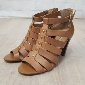 Audrey Brooke Jasmine Leather Heeled Sandals 9.5